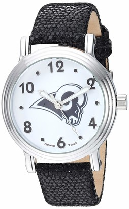Game Time Gametime Men's Stainless Steel Analog-Quartz Watch with Leather-Synthetic Strap