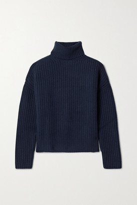 La Ligne Ribbed Cashmere Turtleneck Sweater - Navy