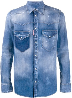 DSQUARED2 Faded Denim Shirt