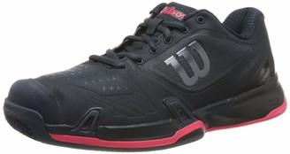 Wilson Women's Tennis Shoes RUSH PRO 2.5 2019 CC W Dark Blue/Black/Pink Size: 6.5 Synthetic For clay surfaces for All Types of Player WRS325670E065