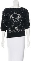Ermanno Scervino Lace Three-Quarter Sleeve Sweater