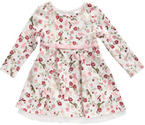 Youngland White & Pink Floral A-Line Dress - Infant & Toddler