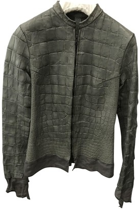 Isaac Sellam Grey Alligator Jacket for Women