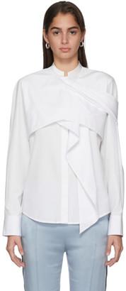 Haider Ackermann White Drape Byron Shirt