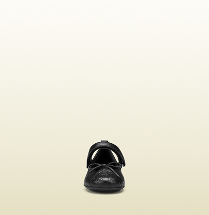 Gucci Toddler Microguccissima Leather Ballet Flat