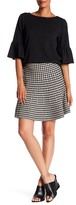 Max Studio Houndstooth Sweater Skirt