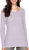 Liz Claiborne Long-Sleeve Boatneck Sweater
