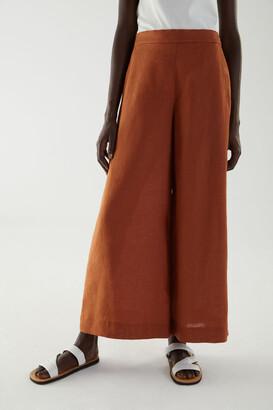 Cos Linen Wide Leg Trousers