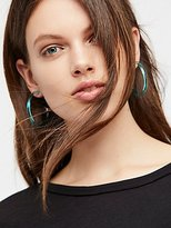 Free People Lucite Tube Hoops