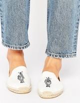 Soludos White Zebra Espadrille Smoking Slippers