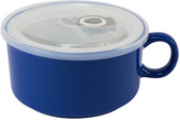 Boston Warehouse Blue Lidded Soup Mug