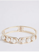 M&S Collection Trapped Pearl Bracelet