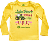 John Deere Yellow 'Runs in My Family' Crewneck Tee - Infant & Toddler