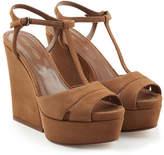 Sergio Rossi Suede Wedge Sandals