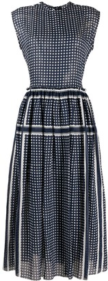 Sara Lanzi Geometric-Print Flared Dress