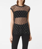 AllSaints Wire Embellished Tee
