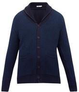 Inis Meáin Rib-knitted Organic-cotton Cardigan - Mens - Dark Blue