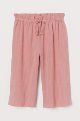 H&M Crinkled Culottes - Pink