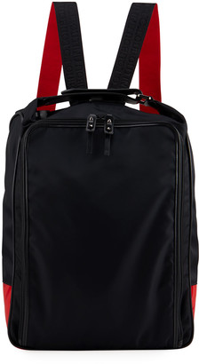 Christian Louboutin Men's Square Zip-Around Backpack