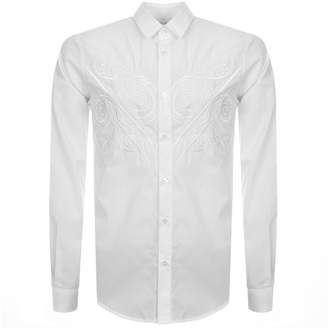 Versace Slim Fit Long Sleeved Shirt White