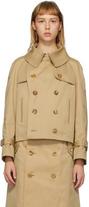 Junya Watanabe Beige Short Trench Jacket