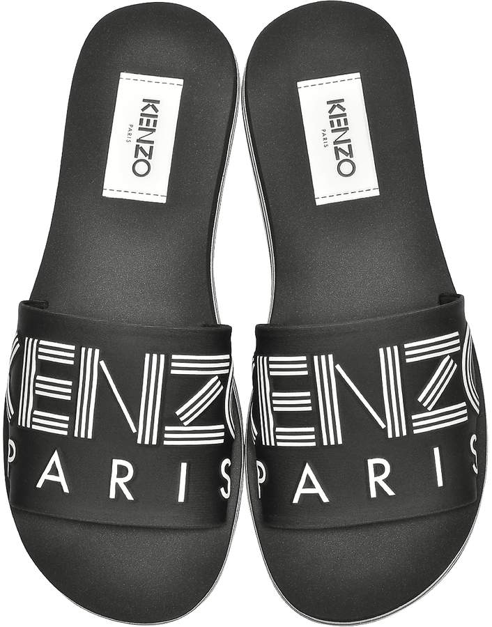 Kenzo Black Neoprene Men's Sandals