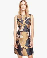 Ann Taylor Petite Jungle Cat Flare Dress