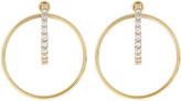 Accessorize Crystal Hoola Hoop Earrings