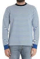 Paul Smith Men's White/blue Cotton Sweatshirt.