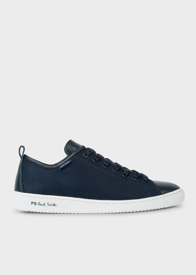 Paul Smith Men's Dark Navy Mesh And Leather 'Miyata' Sneakers