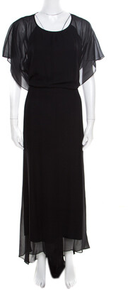 Elizabeth and James Black Silk Open Back Detail Camara Dress M