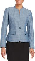 Nipon Boutique Knit One-Button Blazer