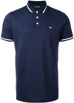 Emporio Armani striped trim polo shirt - men - Cotton - S