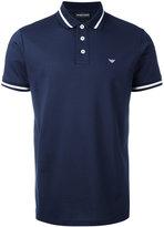 Emporio Armani striped trim polo shirt - men - Cotton - XS