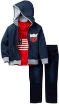 Lucky Brand Patriot Tee, Fleece Hoodie, & Jean Set (Baby Boys)