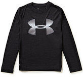 Under Armour Big Boys 8-20 Tech Novelty Big Logo Long-Sleeve Tee