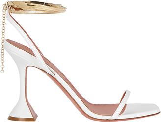Amina Muaddi Henson Ankle Wrap Sandals