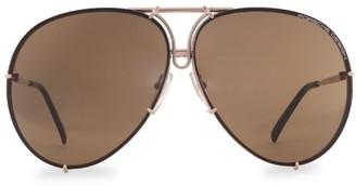 Porsche Design P8478 69MM Interchangeable Aviator Sunglasses
