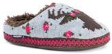 Muk Luks Women's Lucia Reindeer Slide Slippers