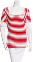 Frame Striped Short Sleeve Top