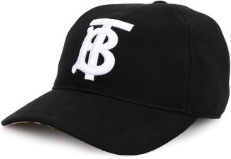Burberry Embroidered Monogram Baseball Cap