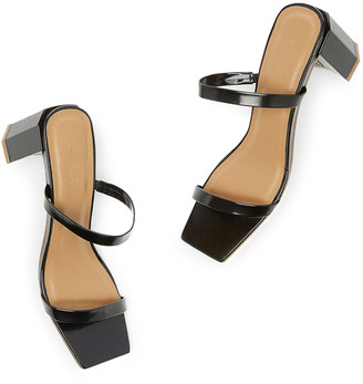 BY FAR Shoes Tanya Patent Leather Sandals Heels