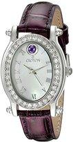 Croton Women's CN207537PPMP Balliamo February Birthstone Analog Display Quartz Purple Watch