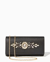 Charming charlie Embellished Saffiano Clutch