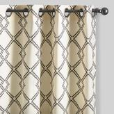 Charcoal Gray Lattice Cotton Curtains Set of 2