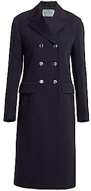 Prada Women's Double Breasted Wool Coat