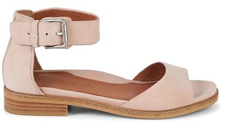 Gentle Souls Gracey Suede Ankle Strap Stacked Heel Sandals
