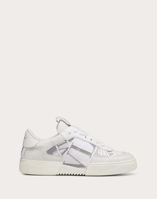 Valentino Vl7n Sneaker In Banded Calfskin Leather Women White/ice 100% Pelle Di Vitello - Bos Taurus 35.5