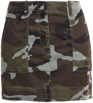Nili Lotan Ilona Printed Stretch-cotton Mini Skirt
