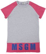 MSGM Logo Printed Cotton Sweatshirt Dress
